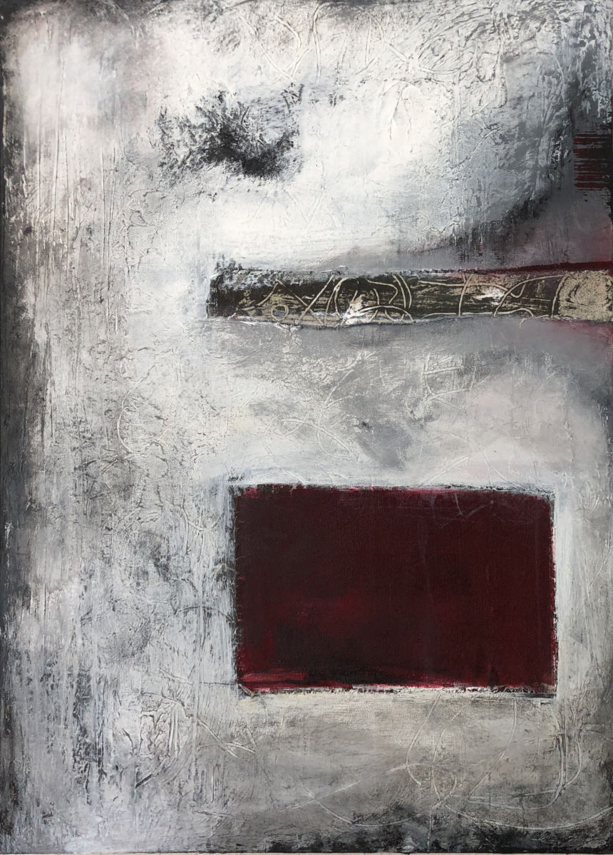 All I see is red by Chuck Prescott | 24 X 36 in | Mixed Media on Canvas