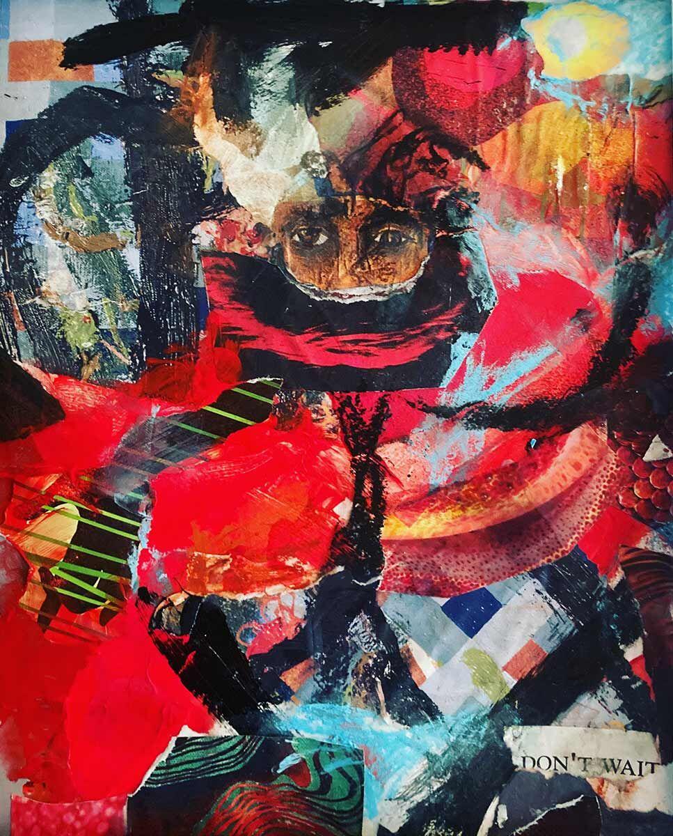 "Don't Wait by Chuck Prescott | 8""x12"" | Collage"